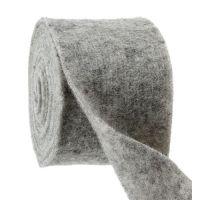 Filzband Grau 15cm 5m