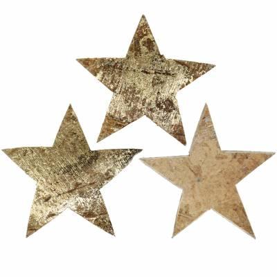Kokos Stern Gold 5cm 50St zum Basteln und aufkleben Adventskranz