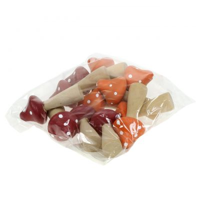 Deko Pilze Rot, Orange 5,5cm 12St