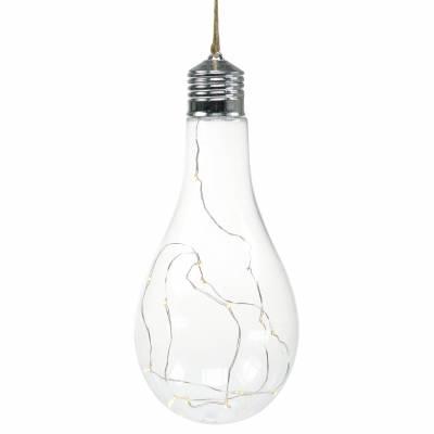LED Licht Deko-Glühbrine Warmweiß 20cm