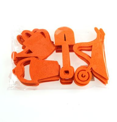 Gartenwerkzeug Filz Orange 24St