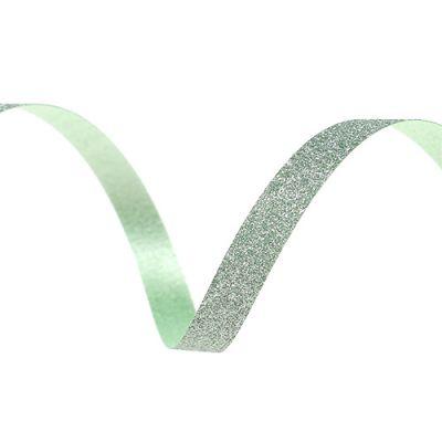 Geschenkband mit Glimmer Hell-Grün 5mm 150m