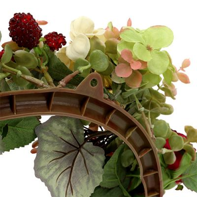 Herbstkranz mit Blüten, Beeren Ø38cm
