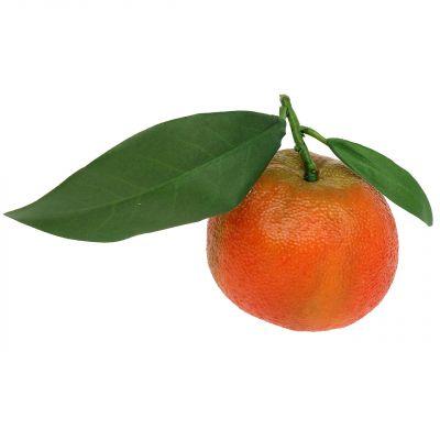 Orange mit Blatt 7cm 4St