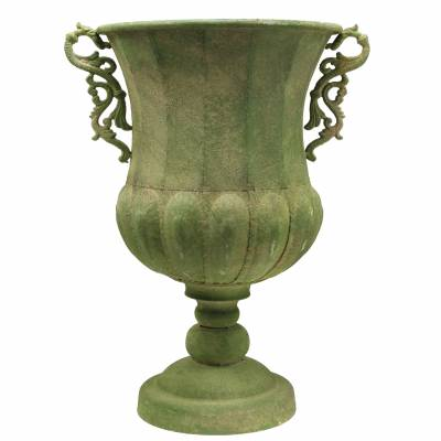 Pokal Grün Antik-Optik Ø34cm H55cm