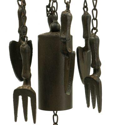 Windspiel Gießkanne zum Hängen Dunkelbraun 80cm
