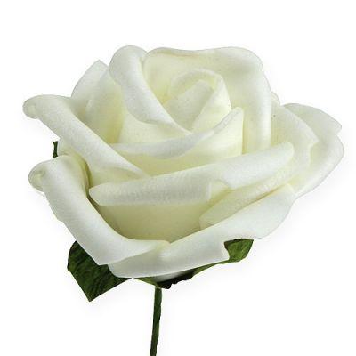 Foam-Rose Ø6cm Weiß 27St