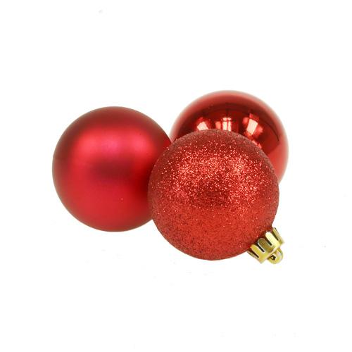 weihnachtskugel plastik rot 5cm 9st preiswert online kaufen. Black Bedroom Furniture Sets. Home Design Ideas