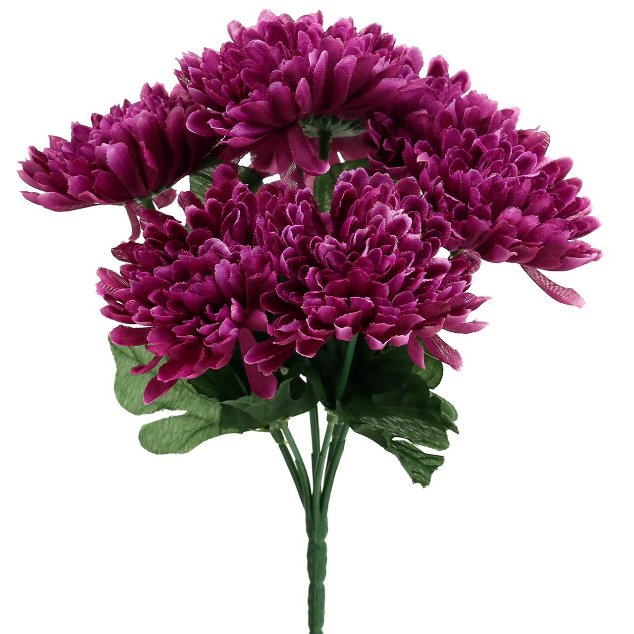 chrysantheme aubergine mit 7 bl ten preiswert online kaufen. Black Bedroom Furniture Sets. Home Design Ideas