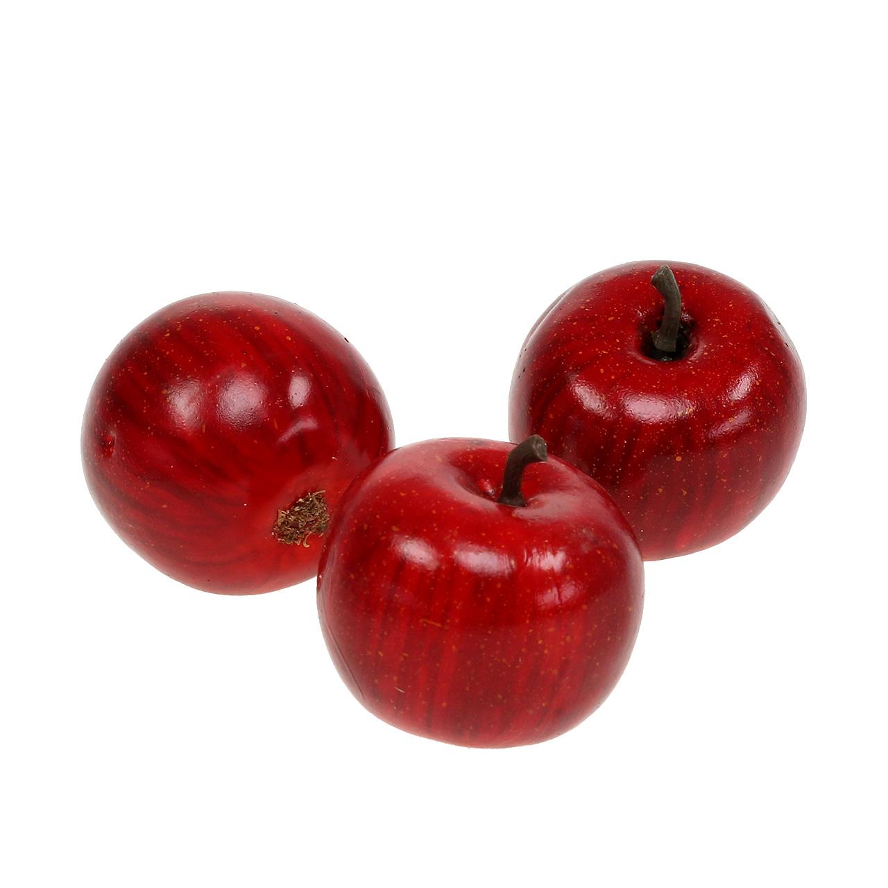 deko apfel rot gl nzend 4 5cm 12st preiswert online kaufen. Black Bedroom Furniture Sets. Home Design Ideas