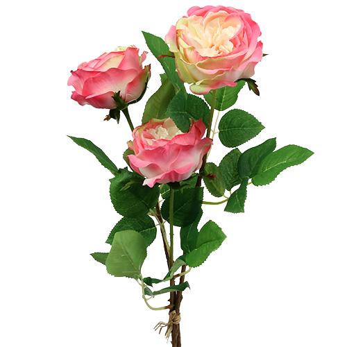 deko rose pink 10cm 52cm 3st preiswert online kaufen. Black Bedroom Furniture Sets. Home Design Ideas