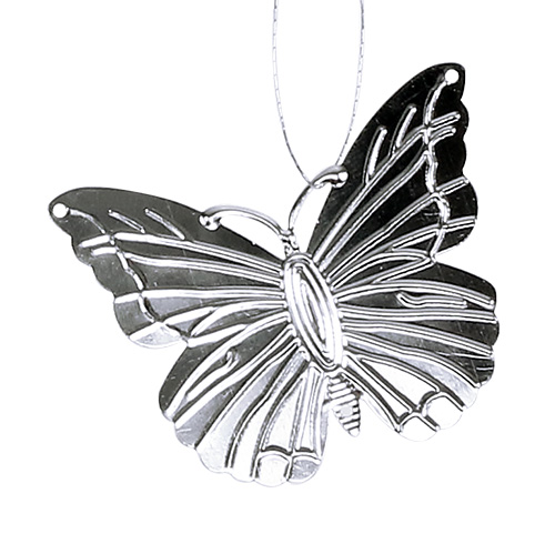 Deko Schmetterlinge Zum Hängen Silber 5cm 36St Preiswert