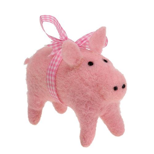 Deko schwein pink 11 5cm 4st preiswert online kaufen for Pink deko