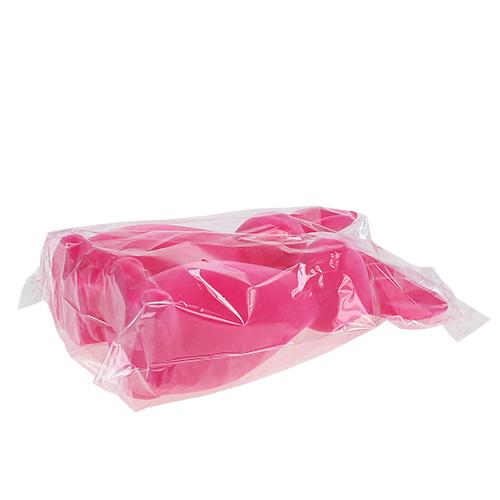 Deko hase beflockt pink 30cm 2st preiswert online kaufen for Pink deko