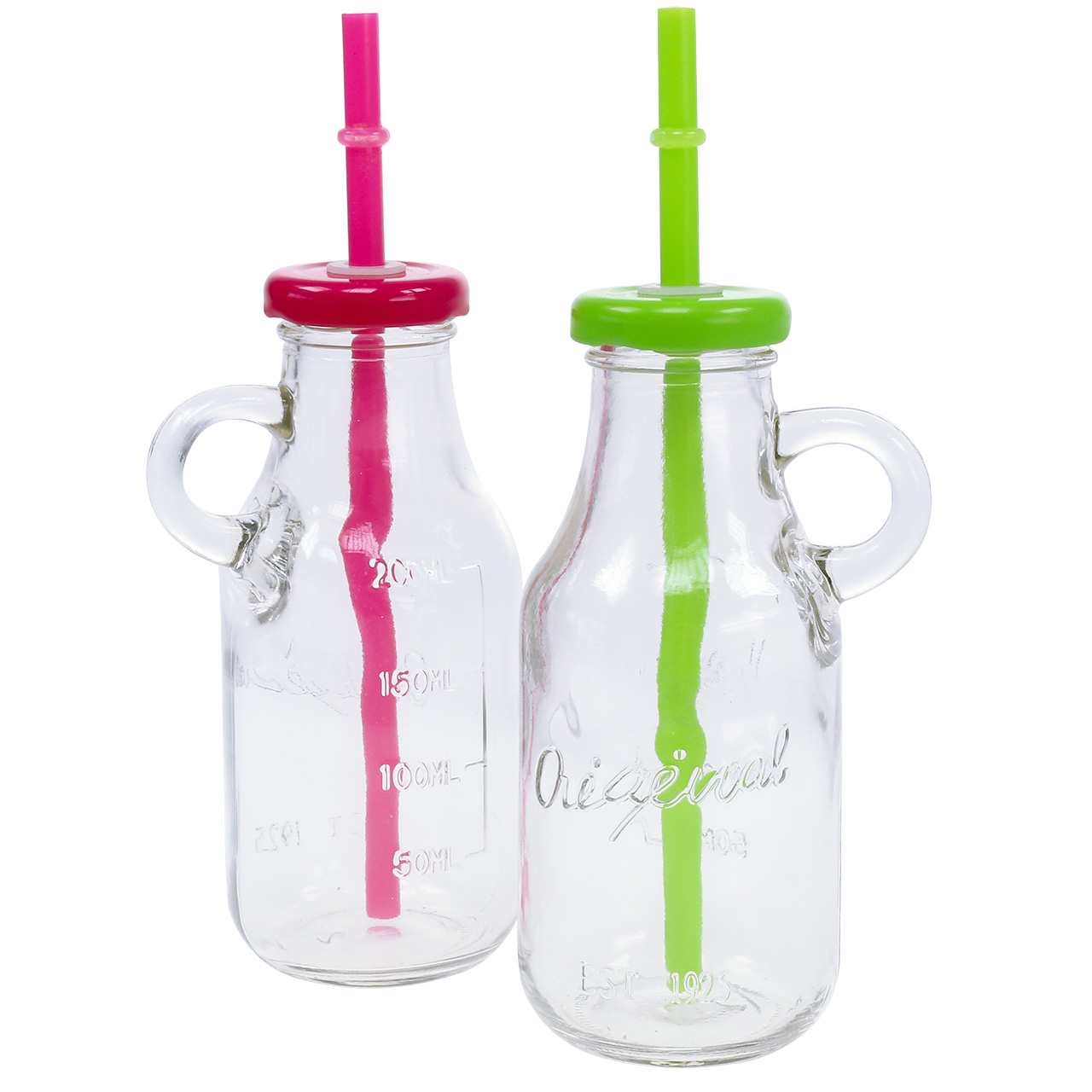 Deko flaschen mit deckel und strohhalm h14 5cm preiswert online kaufen - Deko mit flaschen ...