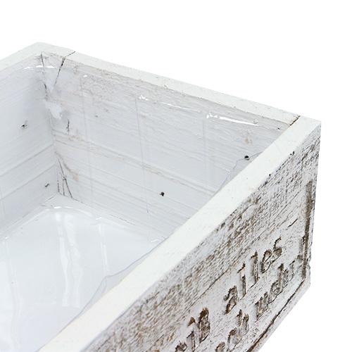 holzkiste mit spruch wei 38cm x 21cm h12cm preiswert online kaufen. Black Bedroom Furniture Sets. Home Design Ideas
