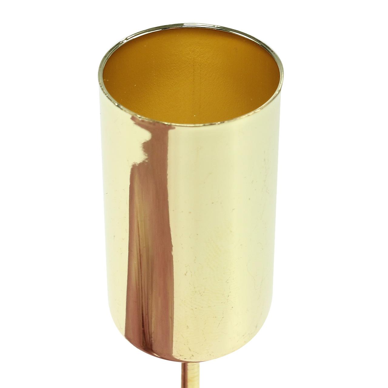 kerzenhalter gold f r stabkerzen 2 2cm 4st preiswert. Black Bedroom Furniture Sets. Home Design Ideas