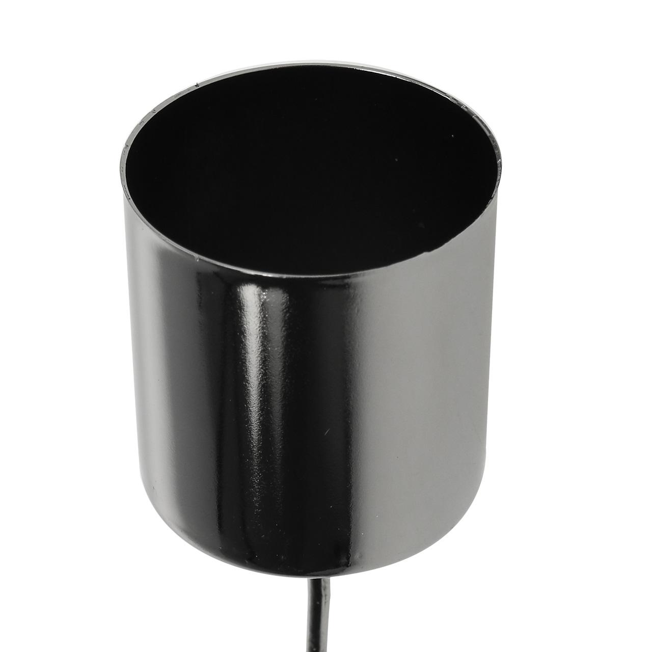 kerzenhalter anthrazit f r stabkerzen 3 5cm h4cm 4st preiswert online kaufen. Black Bedroom Furniture Sets. Home Design Ideas