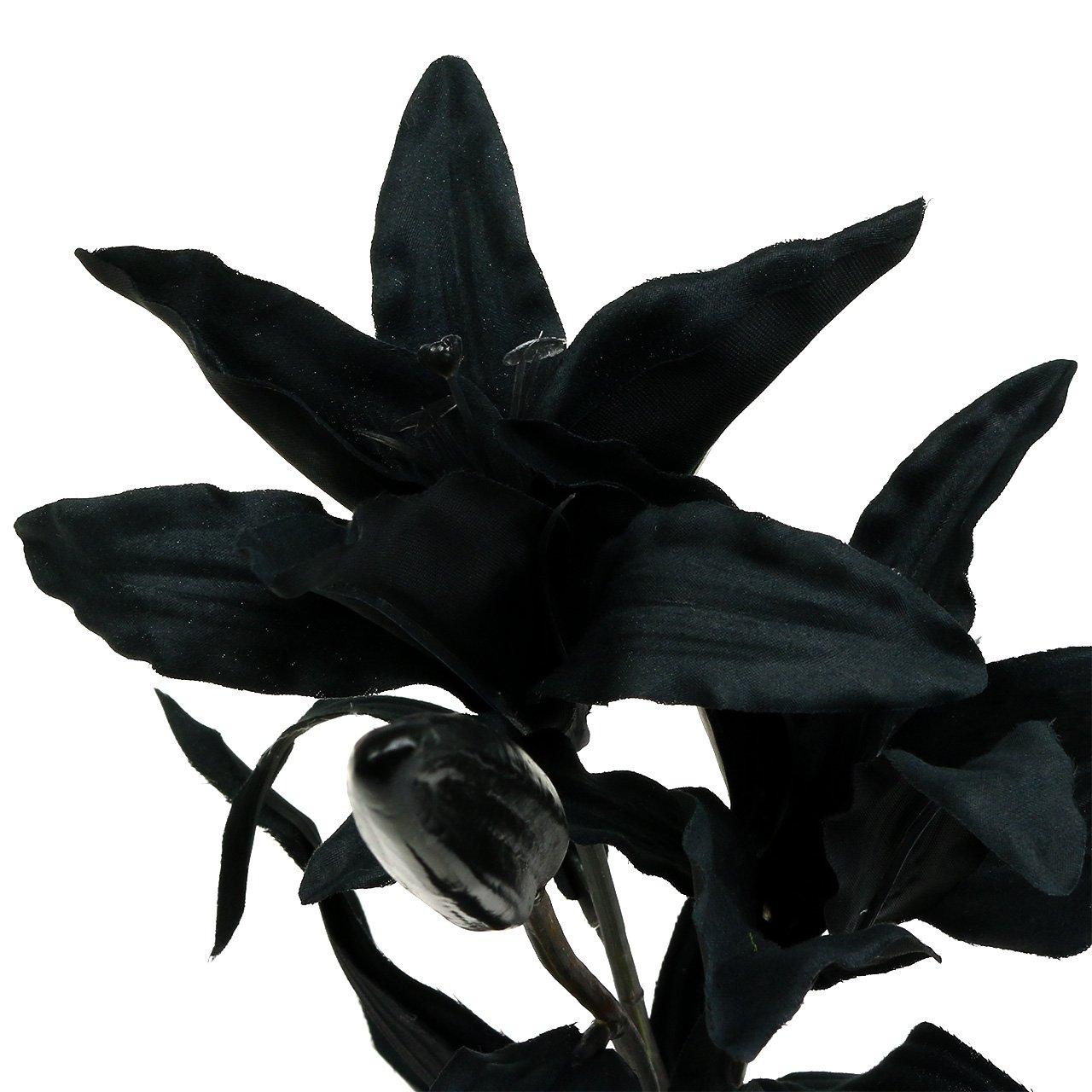 kunstblume lilie schwarz 84cm preiswert online kaufen. Black Bedroom Furniture Sets. Home Design Ideas