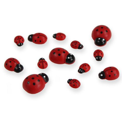 deko marienk fer zum kleben 1 2 5cm rot 255st preiswert. Black Bedroom Furniture Sets. Home Design Ideas
