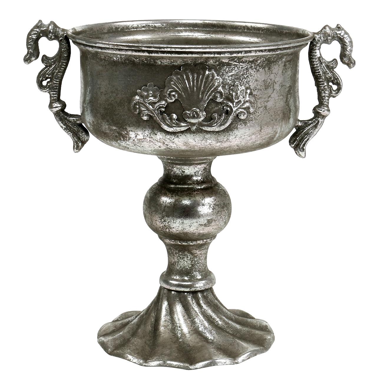 Antik Pokal Aus Metall In Silber U00d818cm H30cm Preiswert