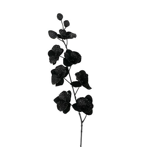 orchidee schwarz mit glitter l78cm preiswert online kaufen. Black Bedroom Furniture Sets. Home Design Ideas