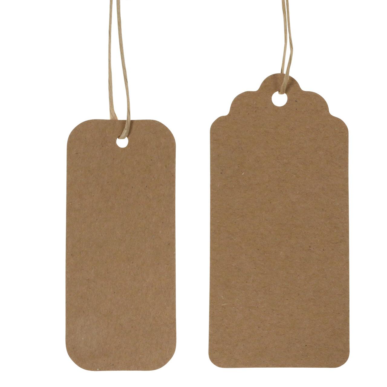 ø3,8cm,natur für Selbstgemachtes 50 Anhänger Geschenkanhänger