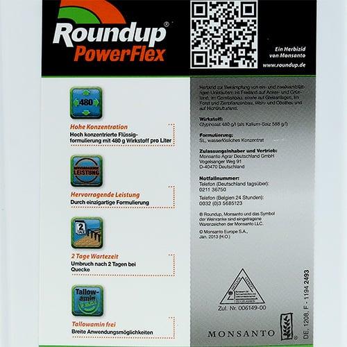 roundup power flex 1l preiswert online kaufen. Black Bedroom Furniture Sets. Home Design Ideas