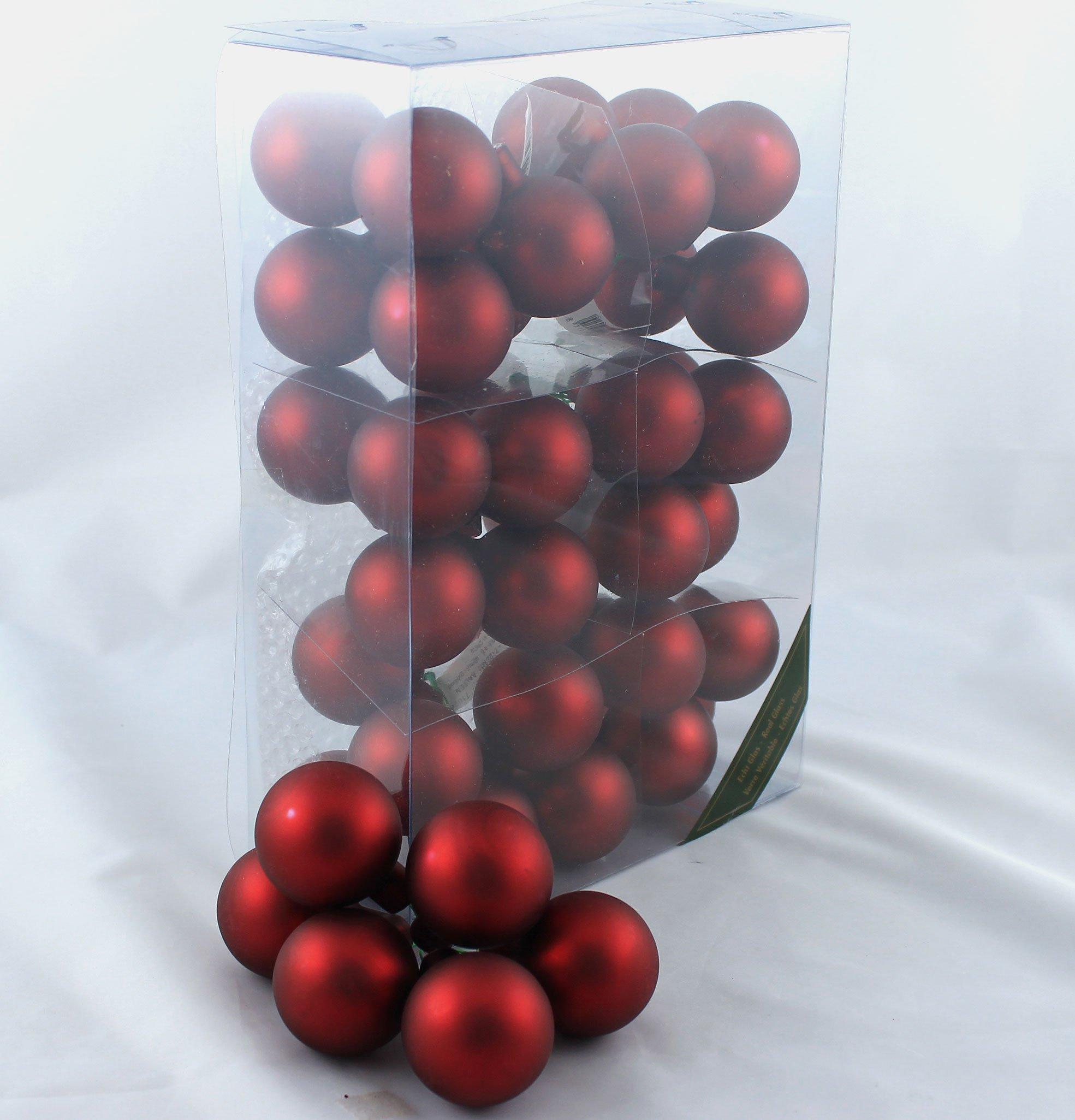 spiegelbeeren am draht ochsenblut matt 40mm 36st preiswert. Black Bedroom Furniture Sets. Home Design Ideas