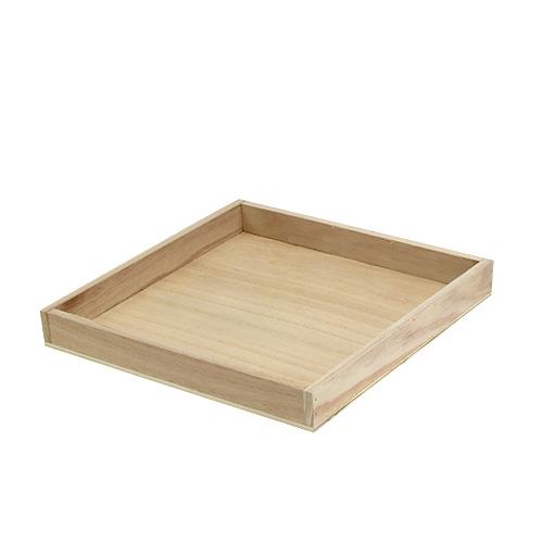 tablett aus holz mittel natur 24 5cm x 24 5cm h3cm preiswert online kaufen. Black Bedroom Furniture Sets. Home Design Ideas