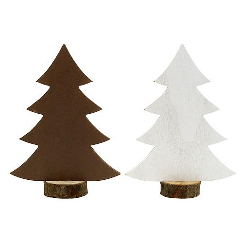 tannenbaum wei braun aus holz 21cm 4st preiswert online kaufen. Black Bedroom Furniture Sets. Home Design Ideas