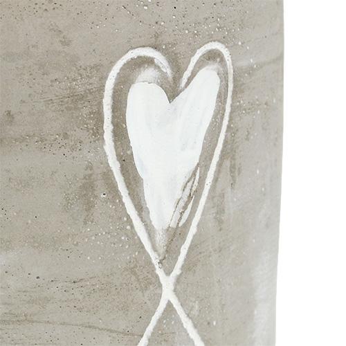 topf aus beton mit herz 8cm h7cm 6st preiswert online kaufen. Black Bedroom Furniture Sets. Home Design Ideas