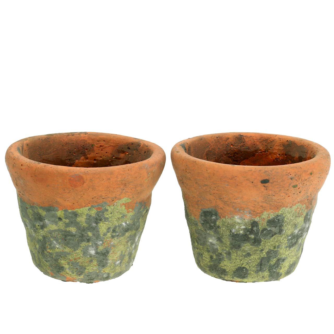 Pflanztopf RANKEN 15 cm Zement Beige Blumentopf Rosen Muster Vintage Design