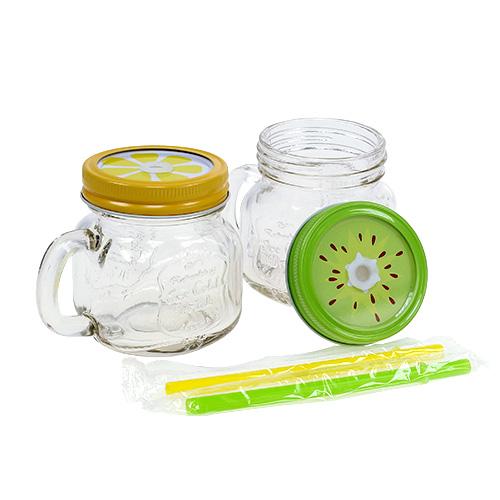 Trinkglas mit deckel 7cm h9cm 2st preiswert online kaufen for Deckel trinkglas
