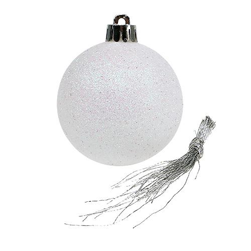 weihnachtskugel sort wei 6cm plastik 30st preiswert. Black Bedroom Furniture Sets. Home Design Ideas