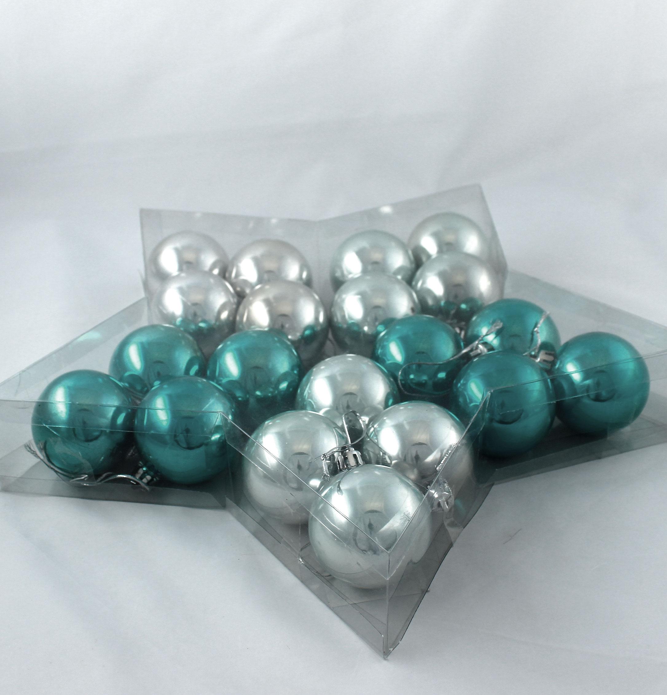 weihnachtskugel plastik 5cm winterhimmel 20st preiswert online kaufen. Black Bedroom Furniture Sets. Home Design Ideas