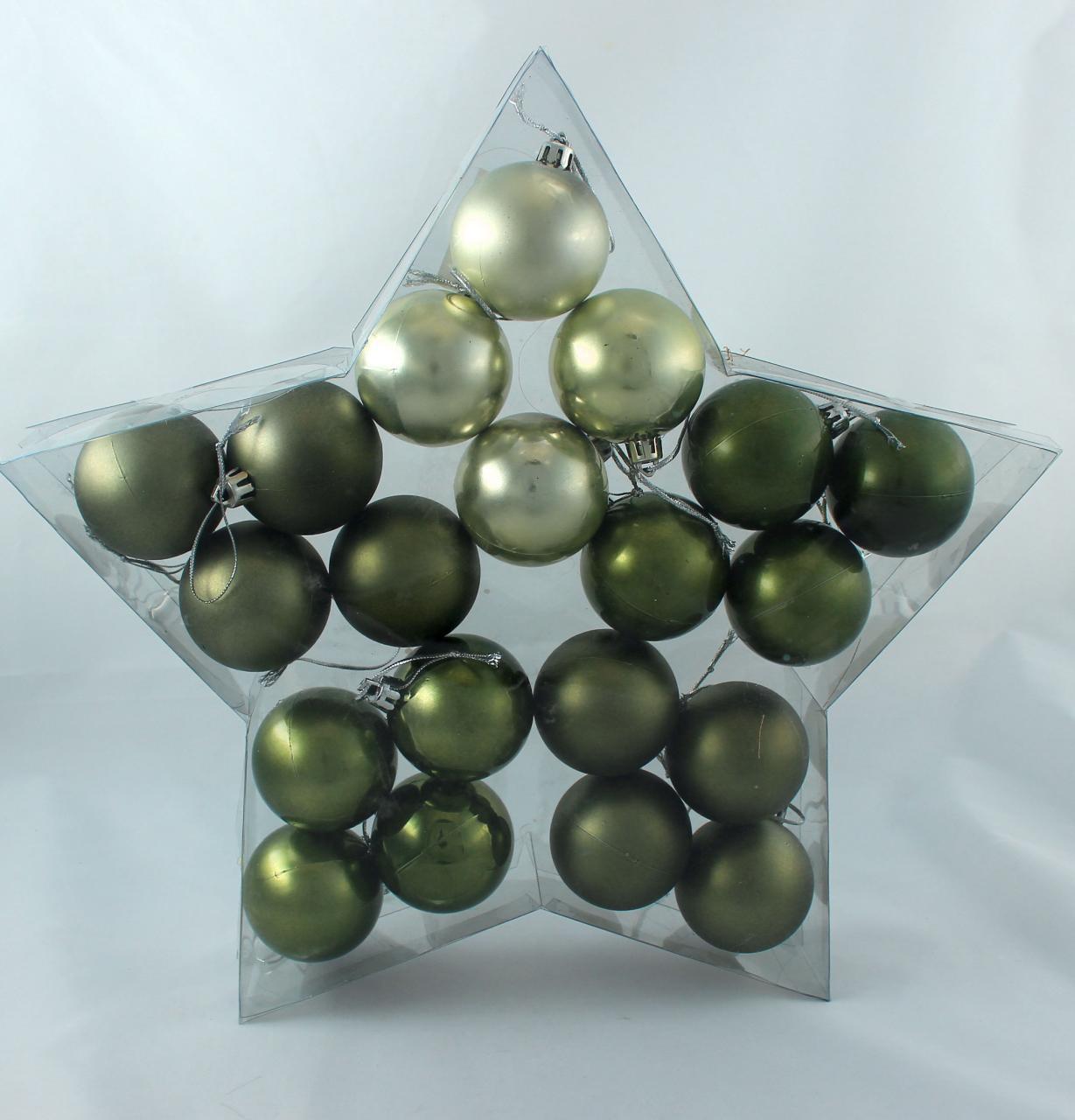 weihnachtskugel plastik 5cm woodland 20st preiswert online kaufen. Black Bedroom Furniture Sets. Home Design Ideas