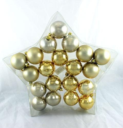 weihnachtskugel plastik 6cm champagner 20st preiswert online kaufen. Black Bedroom Furniture Sets. Home Design Ideas