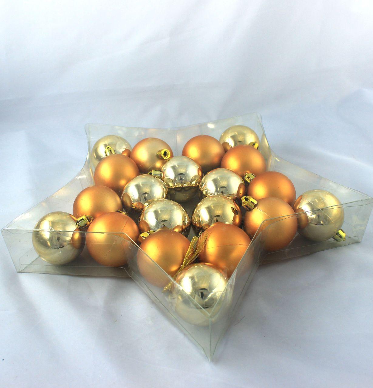 weihnachtskugel plastik 5cm gold 20st preiswert online kaufen. Black Bedroom Furniture Sets. Home Design Ideas
