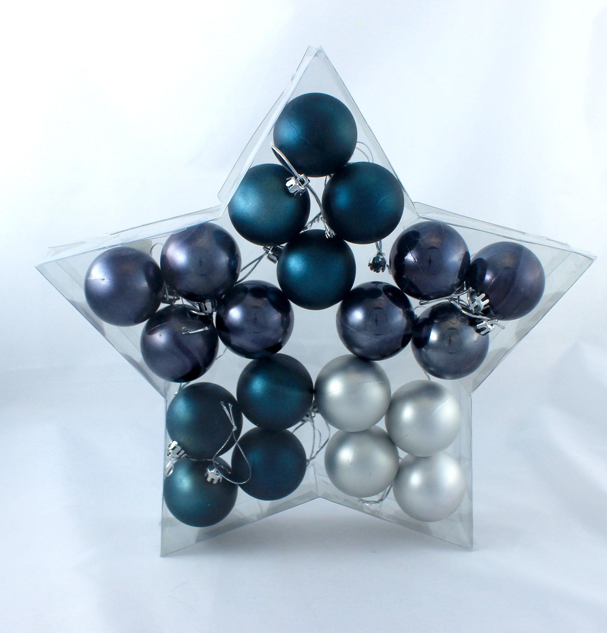 weihnachtskugel plastik 5cm stahlblau 20st preiswert online kaufen. Black Bedroom Furniture Sets. Home Design Ideas