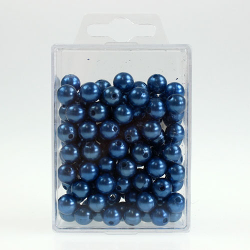 deko perlen 10mm blau 115st preiswert online kaufen. Black Bedroom Furniture Sets. Home Design Ideas