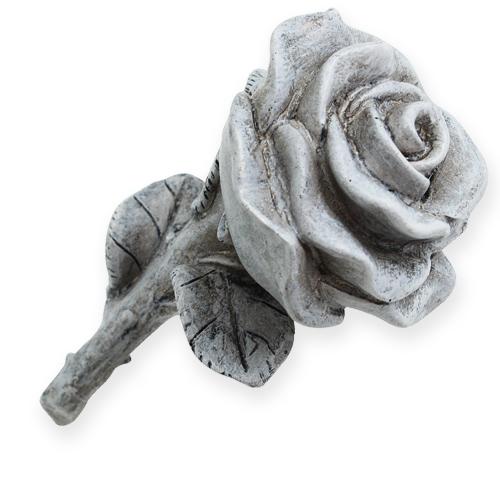 deko rosen grau 13cm 3st preiswert online kaufen. Black Bedroom Furniture Sets. Home Design Ideas