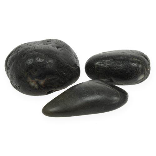 Deko steine schwarz 9cm 1kg preiswert online kaufen for Garten deko steine