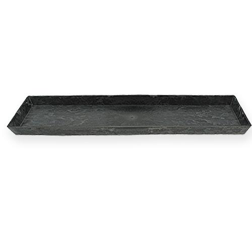 deko tablett anthrazit 43cm x 12cm preiswert online kaufen. Black Bedroom Furniture Sets. Home Design Ideas