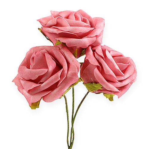 foam rose 8cm rosa 18st preiswert online kaufen. Black Bedroom Furniture Sets. Home Design Ideas