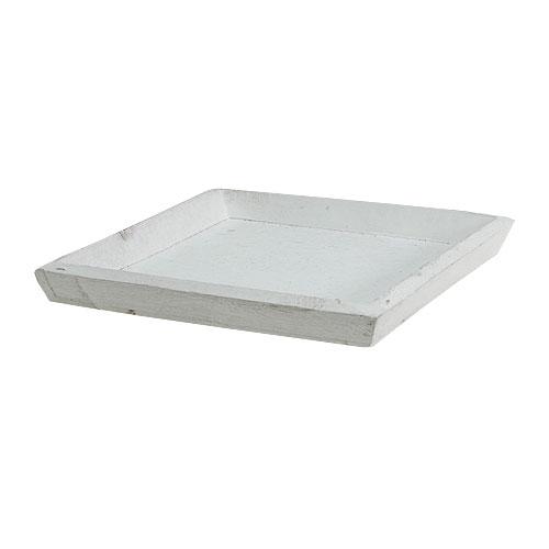 holztablett wei 20cmx20cm preiswert online kaufen. Black Bedroom Furniture Sets. Home Design Ideas