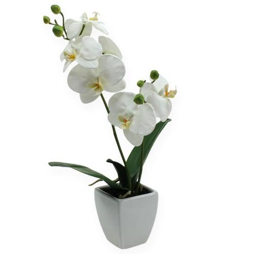 deko orchidee im topf wei 40cm preiswert online kaufen. Black Bedroom Furniture Sets. Home Design Ideas