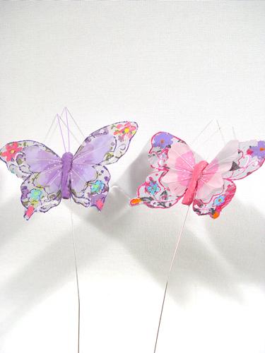 schmetterlinge am draht pink lila 10cm preiswert online kaufen. Black Bedroom Furniture Sets. Home Design Ideas