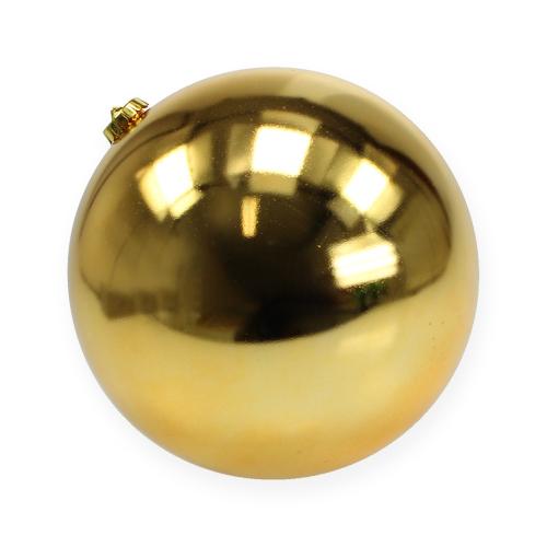 weihnachtskugel mittel gold 20cm plastik preiswert online kaufen. Black Bedroom Furniture Sets. Home Design Ideas