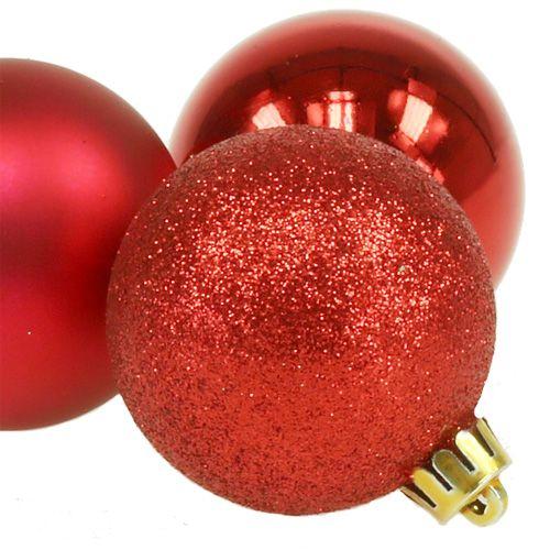 10 Weihnachtsbaumkugeln Glitzer  Glitter  Ø 5 cm   4 Farbvarianten